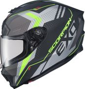 SCORPION EXO - EXO-R420 FULL-FACE HELMET SEISMIC MATTE HI-VIS/GREY