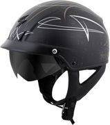 SCORPION EXO - EXO-C110 OPEN-FACE HELMET PINSTRIPE BLACK/GOLD