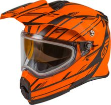 GMAX - AT-21S ADVENTURE EPIC SNOW HELMET MATTE NEON ORNG/BLK