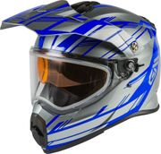 GMAX - AT-21S ADVENTURE EPIC SNOW HELMET SILVER/BLUE