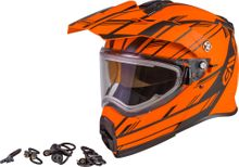 GMAX - AT-21S EPIC SNOW HELMET W/ELEC SHIELD MATTE NEON ORG/BLACK