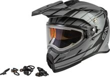 GMAX - AT-21S EPIC SNOW HELMET W/ELEC SHIELD MATTE GREY/BLACK