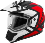 GMAX - GM-11S DUAL-SPORT TRAPPER SNOW HELMET MATTE BLK/RED/WHITE