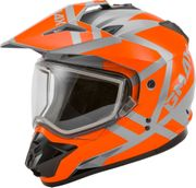 GMAX - GM-11S DUAL-SPORT TRAPPER SNOW HELMET GREY/ORANGE