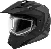 GMAX - GM-11S DUAL-SPORT TRAPPER SNOW HELMET MATTE BLACK/GREY