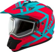 GMAX - GM-11S DUAL-SPORT TRAPPER SNOW HELMET MATTE TEAL/ORANGE