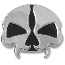 Drag Specialties - Split Skull Gas Cap - Chrome - Vented