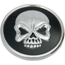 Drag Specialties - Skull Gas Cap - Vented - Screw-In