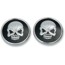 Drag Specialties - Skull Gas Caps - Screw-In - Pair