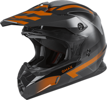 GMAX - MX-86 OFF-ROAD FAME HELMET DARK GREY/ORANGE
