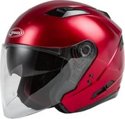 GMAX - OF-77 OPEN-FACE HELMET CANDY RED