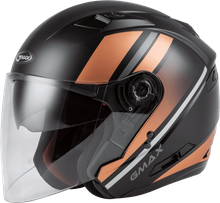 GMAX - OF-77 OPEN-FACE REFORM HELMET MATTE BLACK/COPPER/SILVER