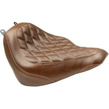Mustang - Wide Tripper Seat - Diamond - Brown - '18-'20 FLDE/FLHC/FLHCS