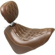 Mustang - Tripper Solo Seat - Diamond - Brown - Driver Backrest - '18-'20 FXFB/FXFBS