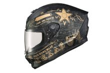 SCORPION EXO - EXO-R420 FULL FACE HELMET LONE STAR BLACK/GOLD