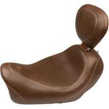 Mustang - Tripper Solo Seat - Brown - Driver Backrest - '14-'17 FXDF