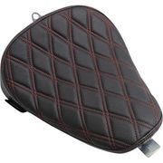 Drag Specialties - Bobber Solo Seat - Double Diamond - Red Stitch - XL