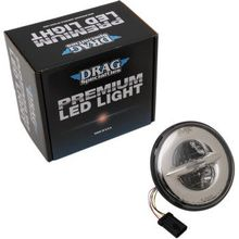 "Drag Specialties - 7"" Reflector-Style LED Headlamp - 14-20 Dresser - Chrome"