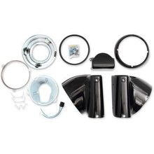 "Drag Specialties - 7"" Nacelle Headlight Kit - Black"