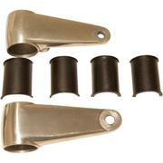 Emgo - Headlamp Mounting Brackets - Polished