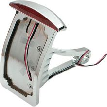 Drag Specialties - Side Mount Taillight/License Plate Mount - Curved Vertical - Half-Moon