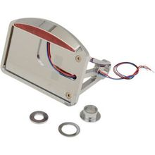 Drag Specialties - Side Mount Taillight/License Plate Mount - Flat Horizontal - Half-Moon