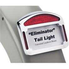 Cycle Visions - Tailight Eliminator - Universal - Chrome