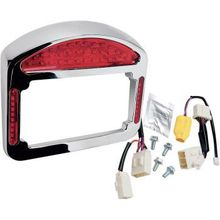 Cycle Visions - Tailight Eliminator - Faceplate & Light Assembly ONLY - Chrome