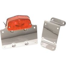 Emgo - Taillight License Plate Bracket - Red Lens