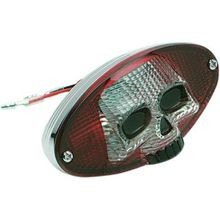 Drag Specialties - Taillight - Red Cat Eye with Skull Face