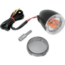 Drag Specialties - Universal Turn Signal Light - Front - Matte Black with Smoke Lens