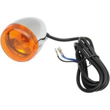 Chris Products - Front Signal Light Assembly - Chrome/Amber - Dual-Filament