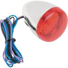 Chris Products - Turn Signal - Chrome/Red