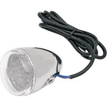 Chris Products - Turn Signal - Red LED - Chrome/Clear