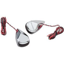 Alloy Art - Turn Signal - Chrome - Red/Red