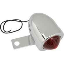 Drag Specialties - Bullet Light with Mount - Left - Chrome