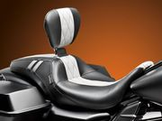 Outcast GT Seat w/ Rider Backrest- White Diamond