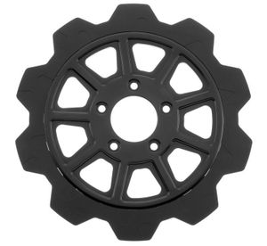 Lyndall Racing Rotors Crown Cut 11 Spoke Black