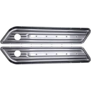 CHROME DIMPLED SADDLEBAG HINGE COVERS
