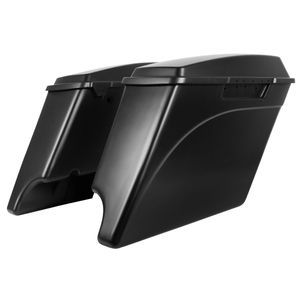 "'94-'13 Touring 4"" Stretch Saddlebags Denim Black"