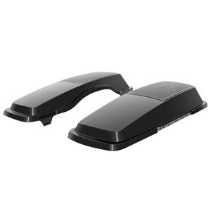 '94-'13 Touring Saddlebag Speaker Lids- Vivid Black
