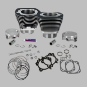 "124"" Standard Compression 4-1/8"" Big Bore Kit for 2007-'16 Big Twins - Wrinkle Black Finish"