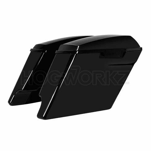 "'14-Present 4"" Stretched Saddlebags for Harley Color Matched"
