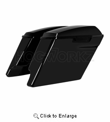 """'14-Present 4"""" Stretched Saddlebags for Harley Color Matched"""