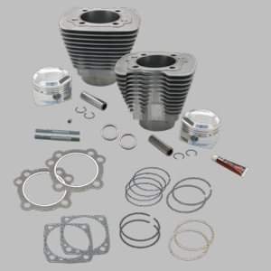 "1458cc (89"") Intermediate Compression Sidewinder Big Bore Cylinder and Piston kit for 1986-'16 HD® Sportster® and 1994-'02 Buell® Models With S&S Super Stock® Heads - Natural"