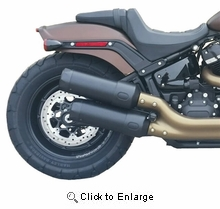 18-Up Fat Bob Black Tip Compatible Exhaust Pipes