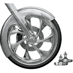 "RAW/CHROME BUILDER FRONT FENDER KIT 23"" WHEELS"