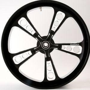 3D Black Contrast Octane Wheel For 14-18 Touring