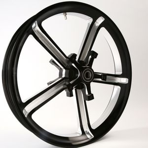 3D Black Contrast Testament Wheel for 14-18 Touring