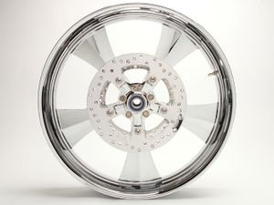 """3D Cut"" Chrome Dos Reis Wheel For 14-17 Touring"